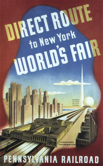 Pennsylvania Railroad New York Worlds Fair 1939 | Vintage Travel Posters 1891-1970