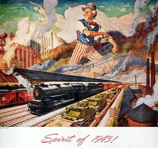 Pennsylvania Railroad Spirit Of 1943 | Vintage Travel Posters 1891-1970