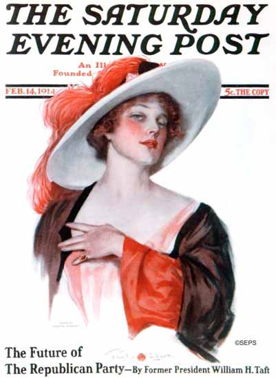 Penrhyn Stanlaws Cover Artist Saturday Evening Post 1914_02_14 | The Saturday Evening Post Graphic Art Covers 1892-1930