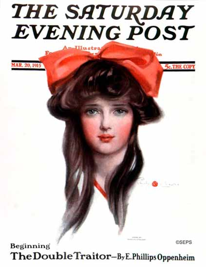 Penrhyn Stanlaws Cover Artist Saturday Evening Post 1915_03_20 | The Saturday Evening Post Graphic Art Covers 1892-1930