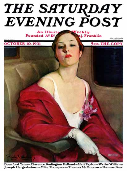 Penrhyn Stanlaws Cover Artist Saturday Evening Post 1931_10_10 | The Saturday Evening Post Graphic Art Covers 1931-1969