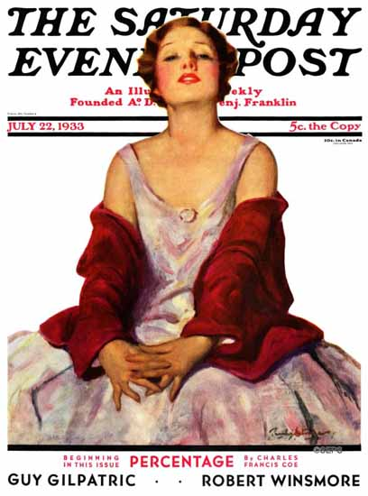 Penrhyn Stanlaws Cover Artist Saturday Evening Post 1933_07_22 | The Saturday Evening Post Graphic Art Covers 1931-1969