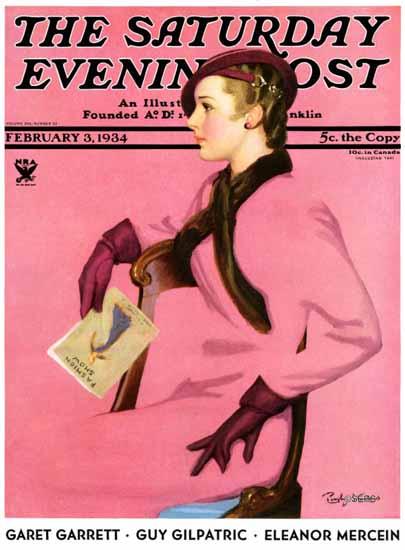 Penrhyn Stanlaws Cover Artist Saturday Evening Post 1934_02_03 | The Saturday Evening Post Graphic Art Covers 1931-1969