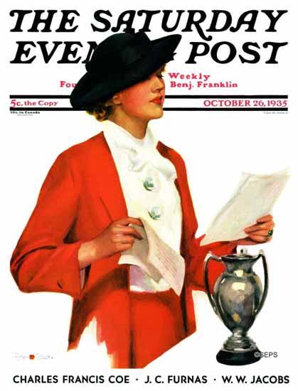 Penrhyn Stanlaws Cover Artist Saturday Evening Post 1935_10_26 | The Saturday Evening Post Graphic Art Covers 1931-1969