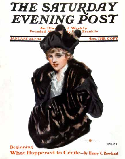 Penrhyn Stanlaws Saturday Evening Post 1914_01_24   The Saturday Evening Post Graphic Art Covers 1892-1930