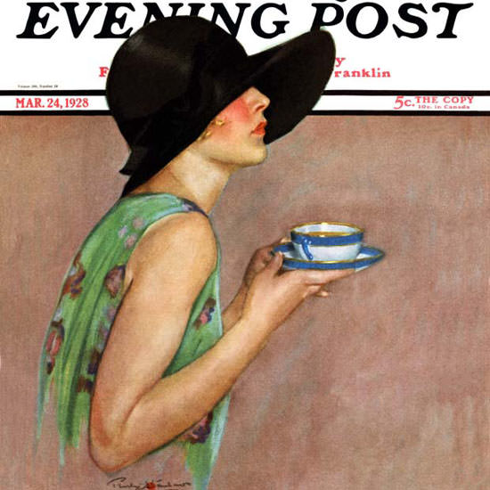 Penrhyn Stanlaws Saturday Evening Post 1928_03_24 Copyright crop | Best of Vintage Cover Art 1900-1970