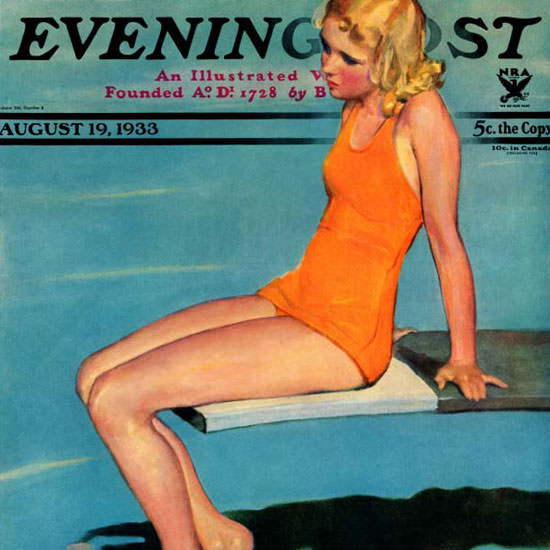 Penrhyn Stanlaws Saturday Evening Post 1933_08_19 Copyright crop | Best of Vintage Cover Art 1900-1970