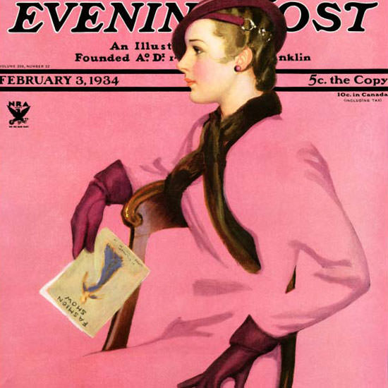Penrhyn Stanlaws Saturday Evening Post 1934_02_03 Copyright crop | Best of 1930s Ad and Cover Art