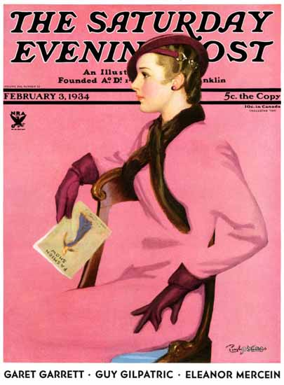Penrhyn Stanlaws Saturday Evening Post 1934_02_03 Sex Appeal | Sex Appeal Vintage Ads and Covers 1891-1970