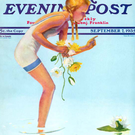 Penrhyn Stanlaws Saturday Evening Post 1935_09_07 Copyright crop | Best of Vintage Cover Art 1900-1970