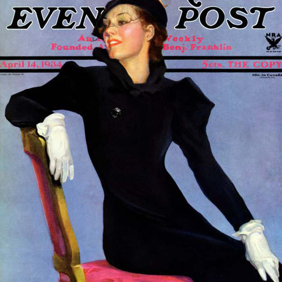 Penrhyn Stanlaws Saturday Evening Post Black 1934_04_14 Copyright crop | Best of 1930s Ad and Cover Art