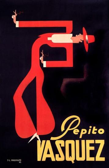 Pepito Vasquez Dancer Madrazo | Vintage Ad and Cover Art 1891-1970