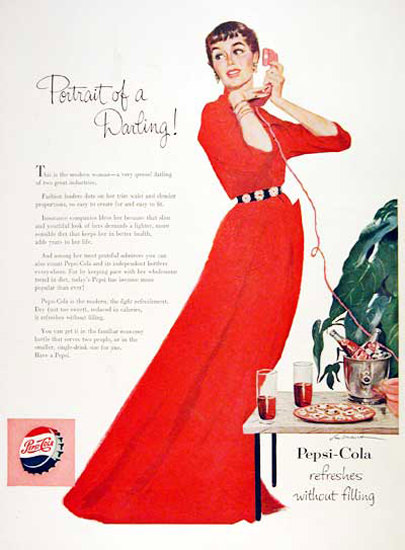 Pepsi-Cola 1954 Portrait Of A Darling | Vintage Ad and Cover Art 1891-1970