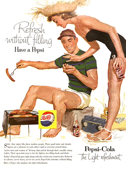 Pepsi-Cola Barbecue Girl Pepsi 1956 | Sex Appeal Vintage Ads and Covers 1891-1970