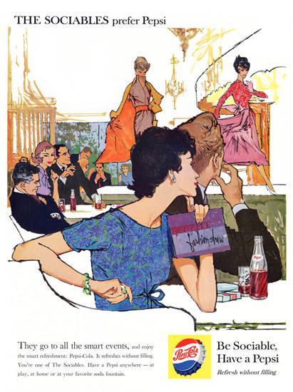 Pepsi-Cola Fashion Parade Show Sociables Prefer 1959   Vintage Ad and Cover Art 1891-1970