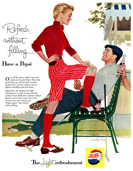 Pepsi-Cola Golf Have A Pepsi 1957   Sex Appeal Vintage Ads and Covers 1891-1970