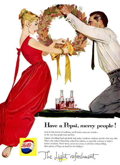 Pepsi-Cola Merry People Pepsi 1957 | Vintage Ad and Cover Art 1891-1970