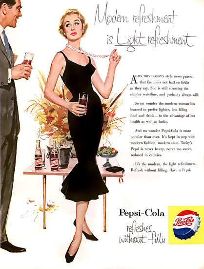 Pepsi-Cola Pearl Necklace Pepsi 1959 | Sex Appeal Vintage Ads and Covers 1891-1970