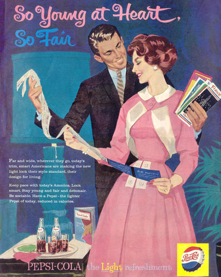 Pepsi-Cola So Young At Heart So Fair 1959 | Sex Appeal Vintage Ads and Covers 1891-1970