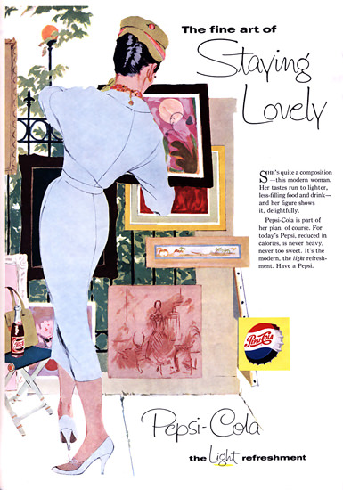 Pepsi-Cola The Fine Art Of Staying Lovely Pepsi 1958 | Sex Appeal Vintage Ads and Covers 1891-1970