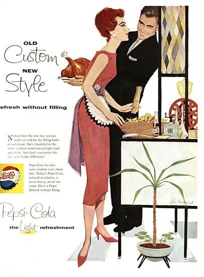 Pepsi-Cola Turkey Old Custom New Style Pepsi 1958 | Vintage Ad and Cover Art 1891-1970