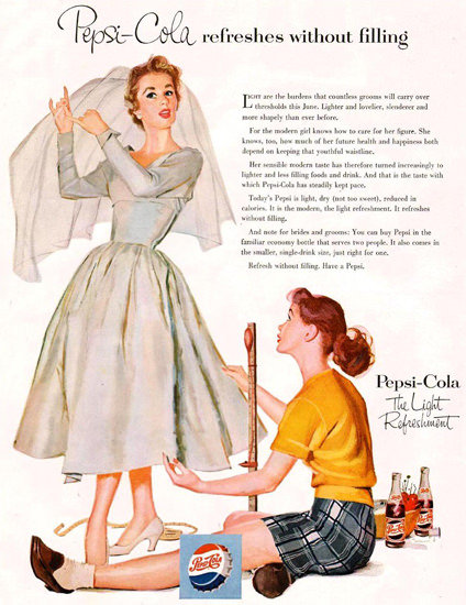 Pepsi-Cola Wedding Gown Girls 1954 | Vintage Ad and Cover Art 1891-1970