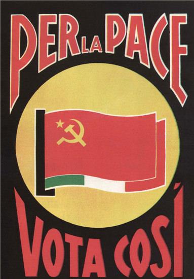 Per La Pace Vote Cosi For Peace Communist | Vintage War Propaganda Posters 1891-1970