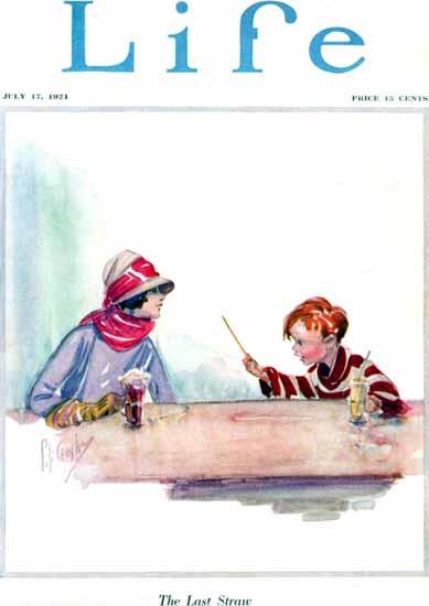 Percy L Crosby Life Humor Magazine 1924-07-17 Copyright | Life Magazine Graphic Art Covers 1891-1936