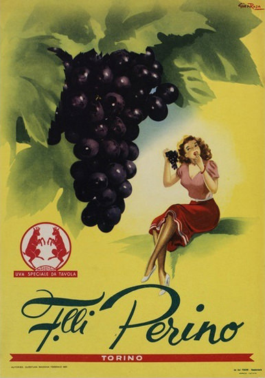 Perino Grapes Torino Italia Italy | Sex Appeal Vintage Ads and Covers 1891-1970