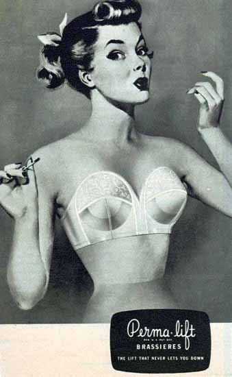 Perma-Lift Brassieres Ad Sex Appeal | Sex Appeal Vintage Ads and Covers 1891-1970