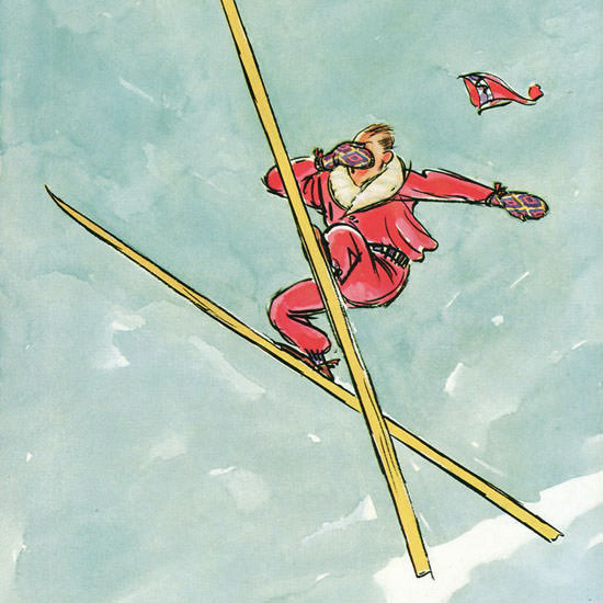 Perry Barlow The New Yorker 1935_01_26 Copyright crop | Best of Vintage Cover Art 1900-1970