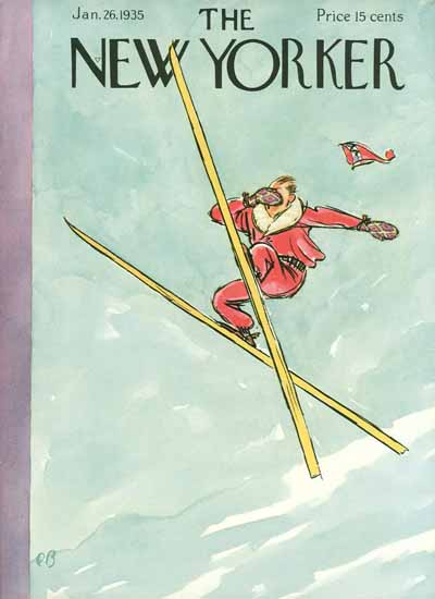 Perry Barlow The New Yorker 1935_01_26 Copyright | The New Yorker Graphic Art Covers 1925-1945
