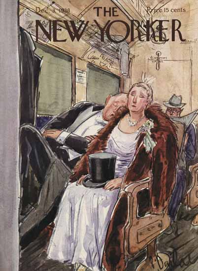 Perry Barlow The New Yorker 1938_12_03 Copyright | The New Yorker Graphic Art Covers 1925-1945