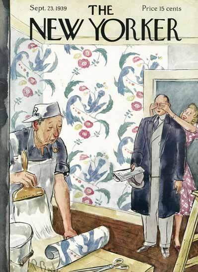 Perry Barlow The New Yorker 1939_09_23 Copyright | The New Yorker Graphic Art Covers 1925-1945