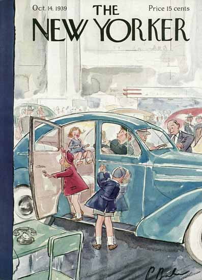Perry Barlow The New Yorker 1939_10_14 Copyright | The New Yorker Graphic Art Covers 1925-1945
