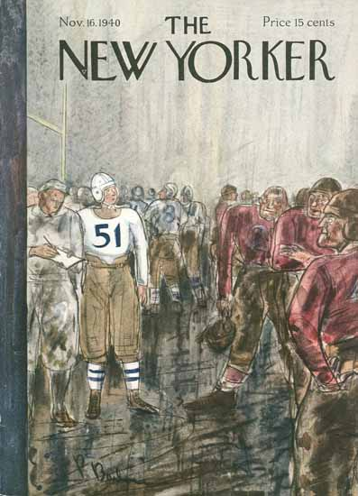 Perry Barlow The New Yorker 1940_11_16 Copyright | The New Yorker Graphic Art Covers 1925-1945