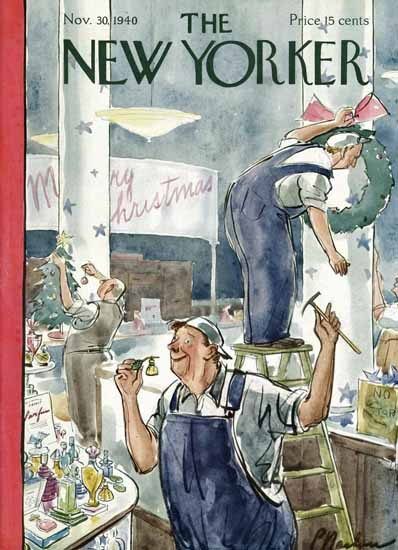 Perry Barlow The New Yorker 1940_11_30 Copyright | The New Yorker Graphic Art Covers 1925-1945
