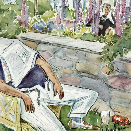 Perry Barlow The New Yorker 1941_08_23 Copyright crop | Best of Vintage Cover Art 1900-1970