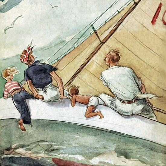 Perry Barlow The New Yorker 1942_08_15 Copyright crop | Best of Vintage Cover Art 1900-1970