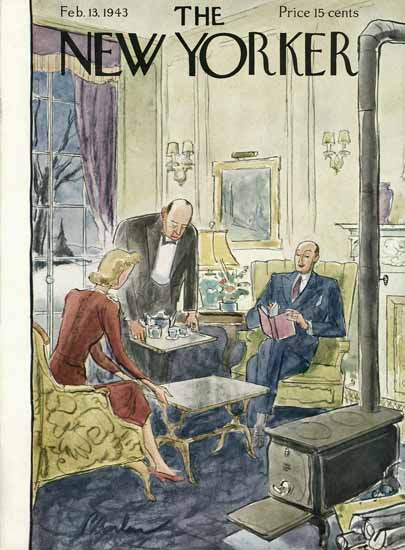 Perry Barlow The New Yorker 1943_02_13 Copyright | The New Yorker Graphic Art Covers 1925-1945