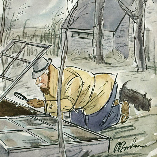 Perry Barlow The New Yorker 1943_03_27 Copyright crop | Best of Vintage Cover Art 1900-1970