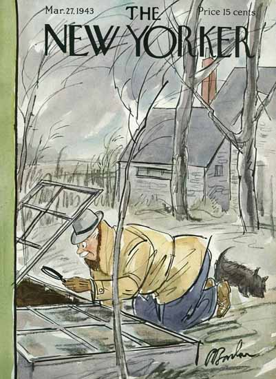 Perry Barlow The New Yorker 1943_03_27 Copyright | The New Yorker Graphic Art Covers 1925-1945