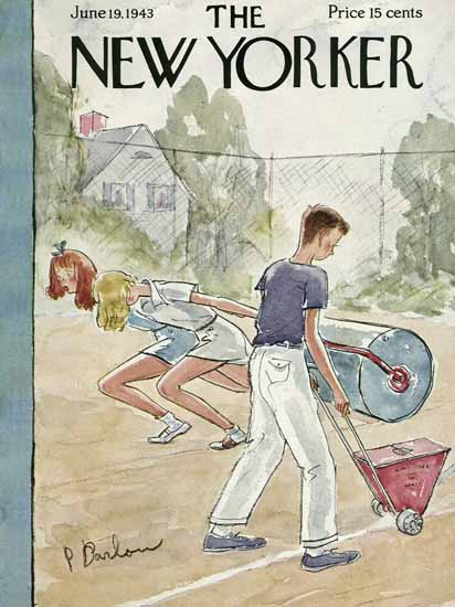 Perry Barlow The New Yorker 1943_06_19 Copyright | The New Yorker Graphic Art Covers 1925-1945