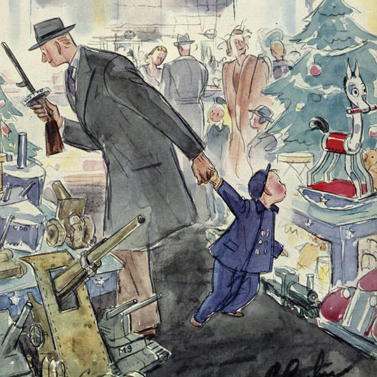 Perry Barlow The New Yorker 1943_12_18 Copyright crop | Best of Vintage Cover Art 1900-1970