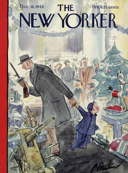 Perry Barlow The New Yorker 1943_12_18 Copyright | The New Yorker Graphic Art Covers 1925-1945