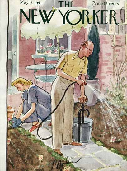 Perry Barlow The New Yorker 1944_05_13 Copyright | The New Yorker Graphic Art Covers 1925-1945