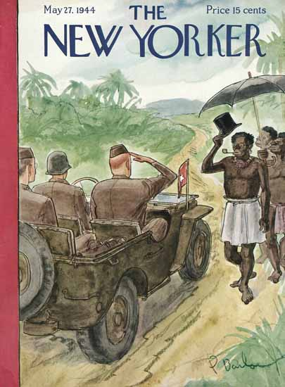 Perry Barlow The New Yorker 1944_05_27 Copyright | The New Yorker Graphic Art Covers 1925-1945