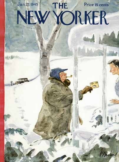 Perry Barlow The New Yorker 1945_01_27 Copyright | The New Yorker Graphic Art Covers 1925-1945