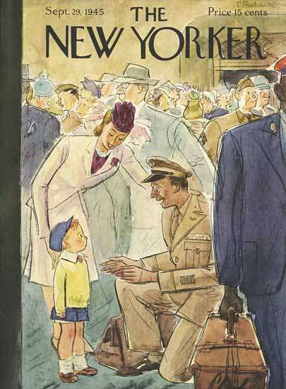 Perry Barlow The New Yorker 1945_09_29 Copyright | The New Yorker Graphic Art Covers 1925-1945