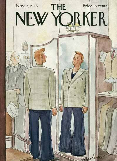 Perry Barlow The New Yorker 1945_11_03 Copyright | The New Yorker Graphic Art Covers 1925-1945